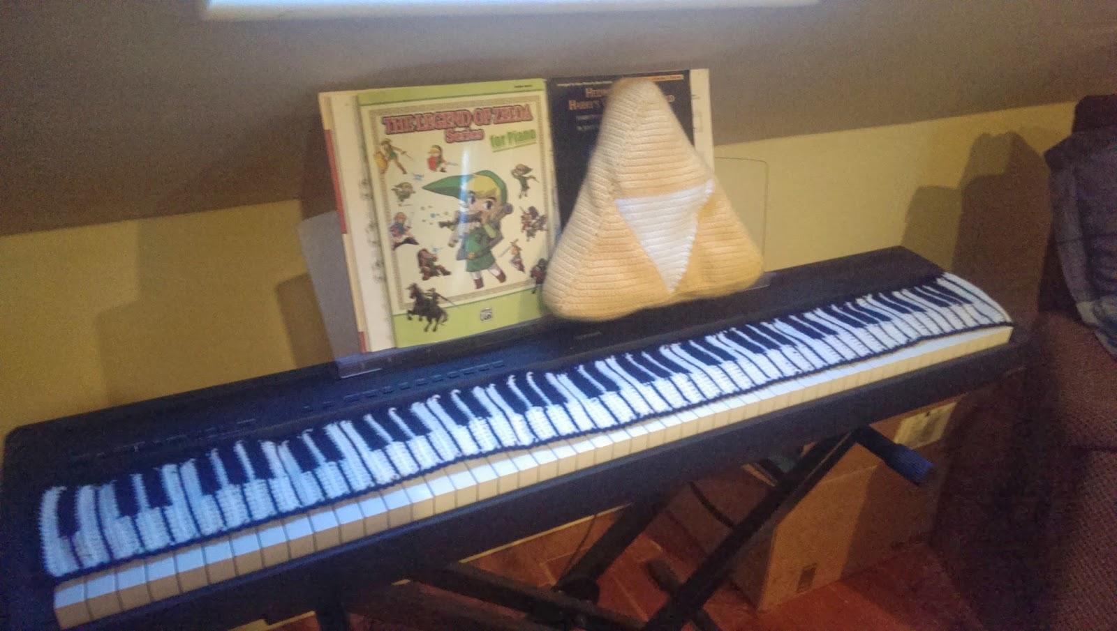 Catty Crochet: Piano Key Scarf