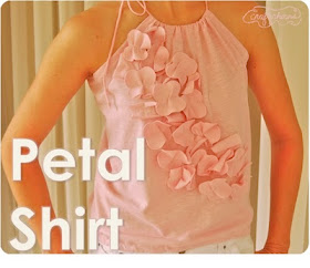 Tshirt to petal top refashion