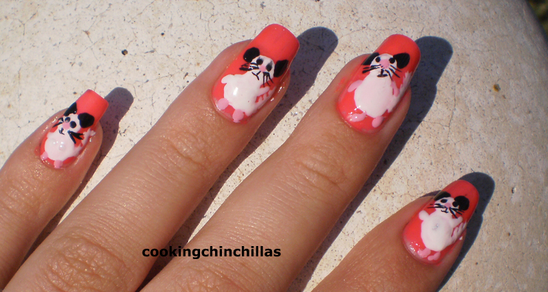 Cookingchinchillas Chinchilla Nail Art Design