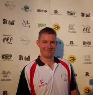 Minigolfer Richard Gottfried at the 2011 WMF Nations Cup in Stockholm, Sweden