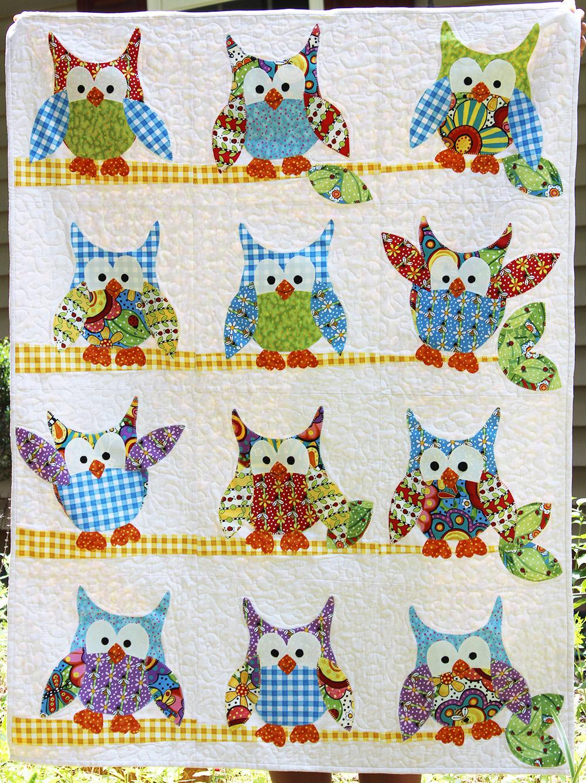 Jennifer Jangles Blog: Okey Dokey Owl and Friends Quilt in BugaPalooza