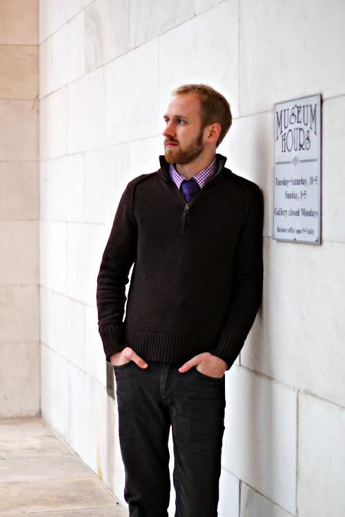 Zip Sweater With Tie 58