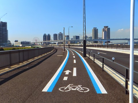 The Varied Designs of Tokyo's Bicycle Lanes