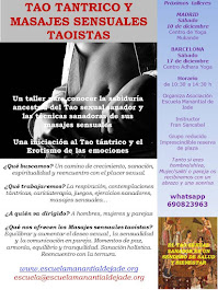 TALLER INICIACION AL TAO TÁNTRICO Y A LOS MASAJES SENSUALES TAOISTAS