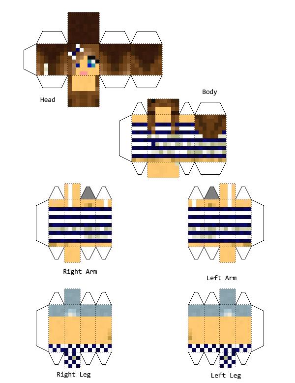 Create papercraft of bloody_ Minecraft Skin
