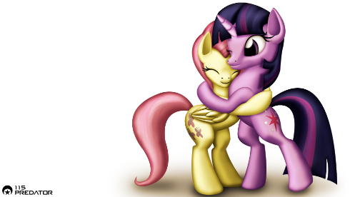 Remember to download if you want the full size of this Hugging Twilight and Fluttershy