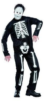 Halloween Skeleton Jumpsuit Costume for Men