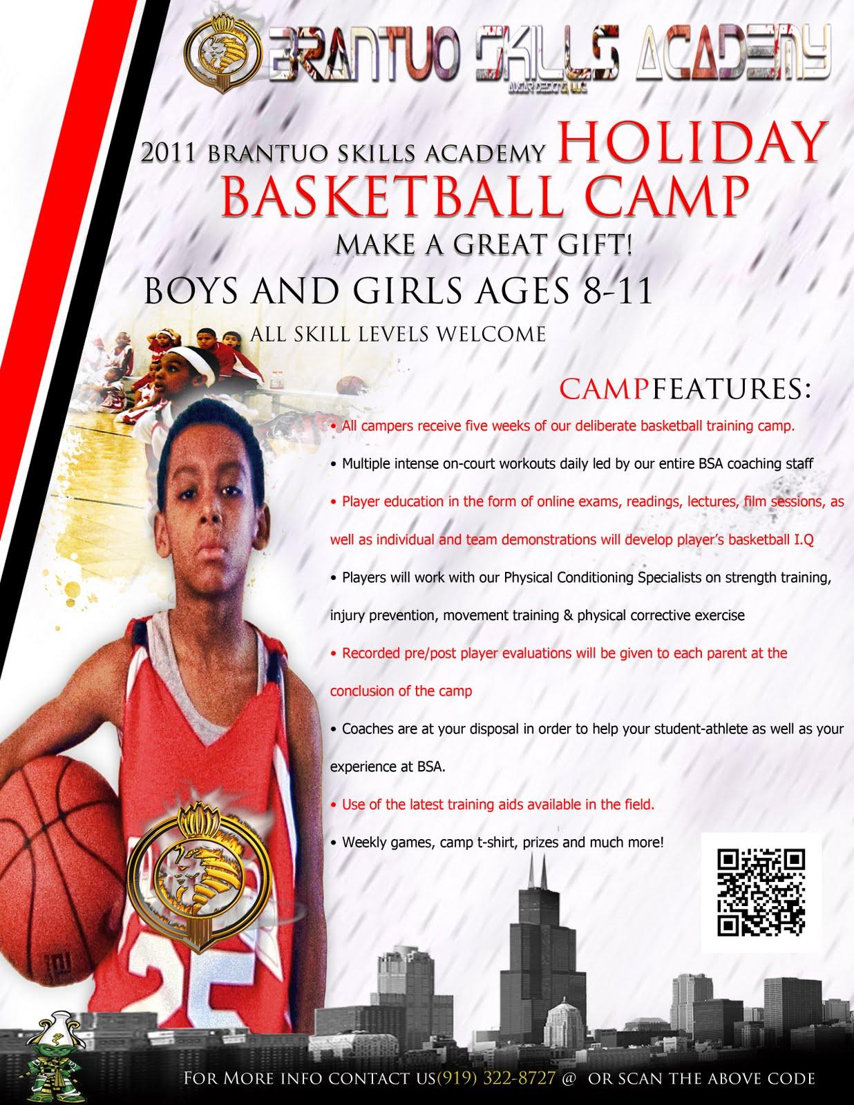 basketball camp flyer template .