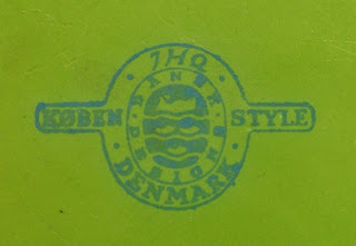1955-1959 Dansk Kobenstyle logo on 1st year Lime Green pan