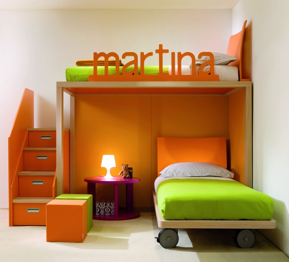 interiors furniture & design: small spaces kids bedroom