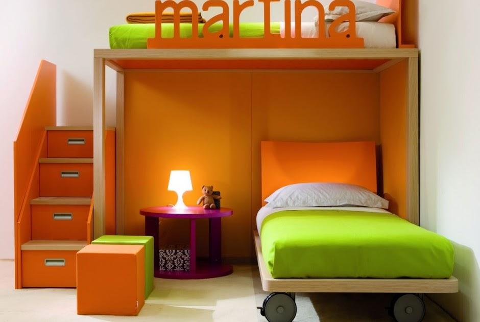 Back to school bedroom small spaces mydesignguide 39 s - Dormitorios infantiles unisex ...