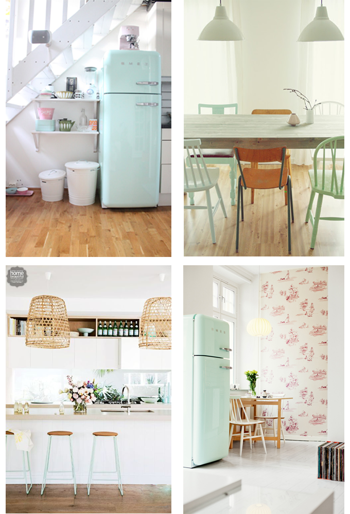 Em aime inspiration minty fresh for Interieur frigo smeg