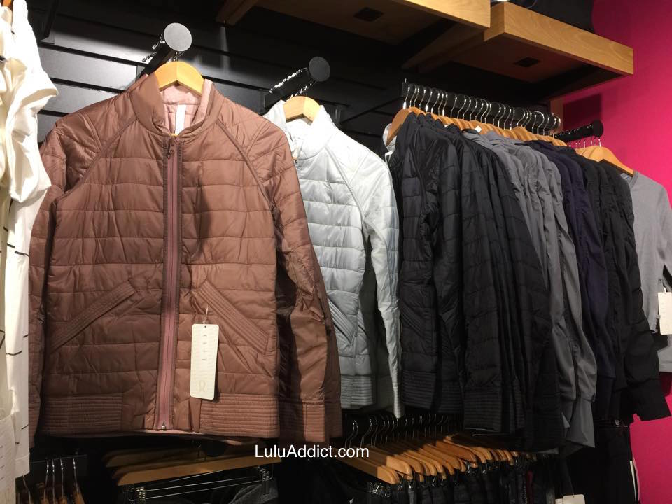 Lululemon Addict: Spotted in Stores (Bomb Bomber, Departure Vest ...