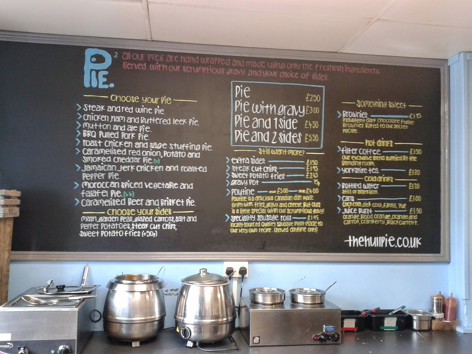 The Hull Pie Menu