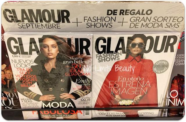 Regalos revistas septiembre 2015: Glamour