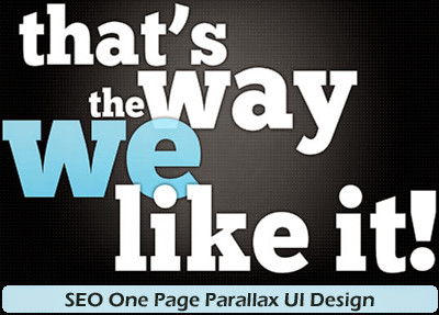 SEO One Page UI Design