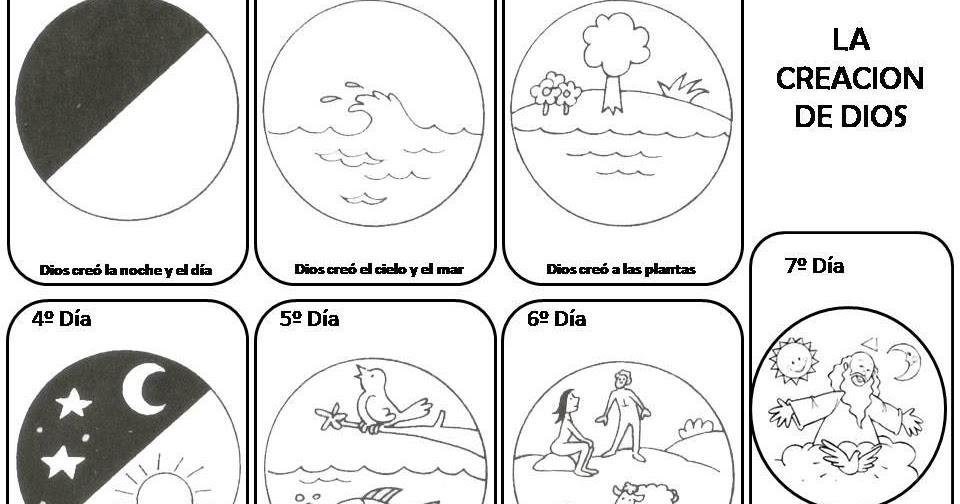 Relimayorazgo primer ciclo primaria dibujos la creaci n for En 7 dias dios creo el mundo