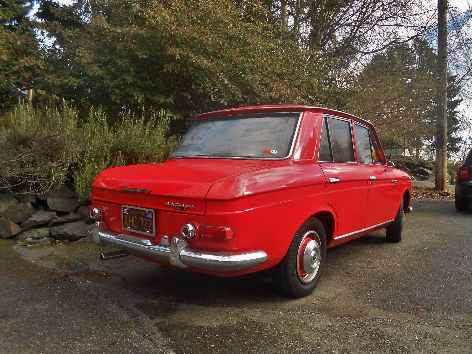 seattle s parked cars 1966 datsun 411 sedan