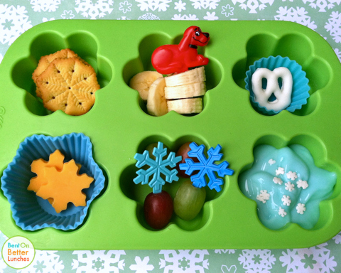 Clifford's Snow day muffin tin meal