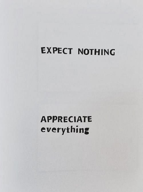 Expectations, Appreciation, happiness