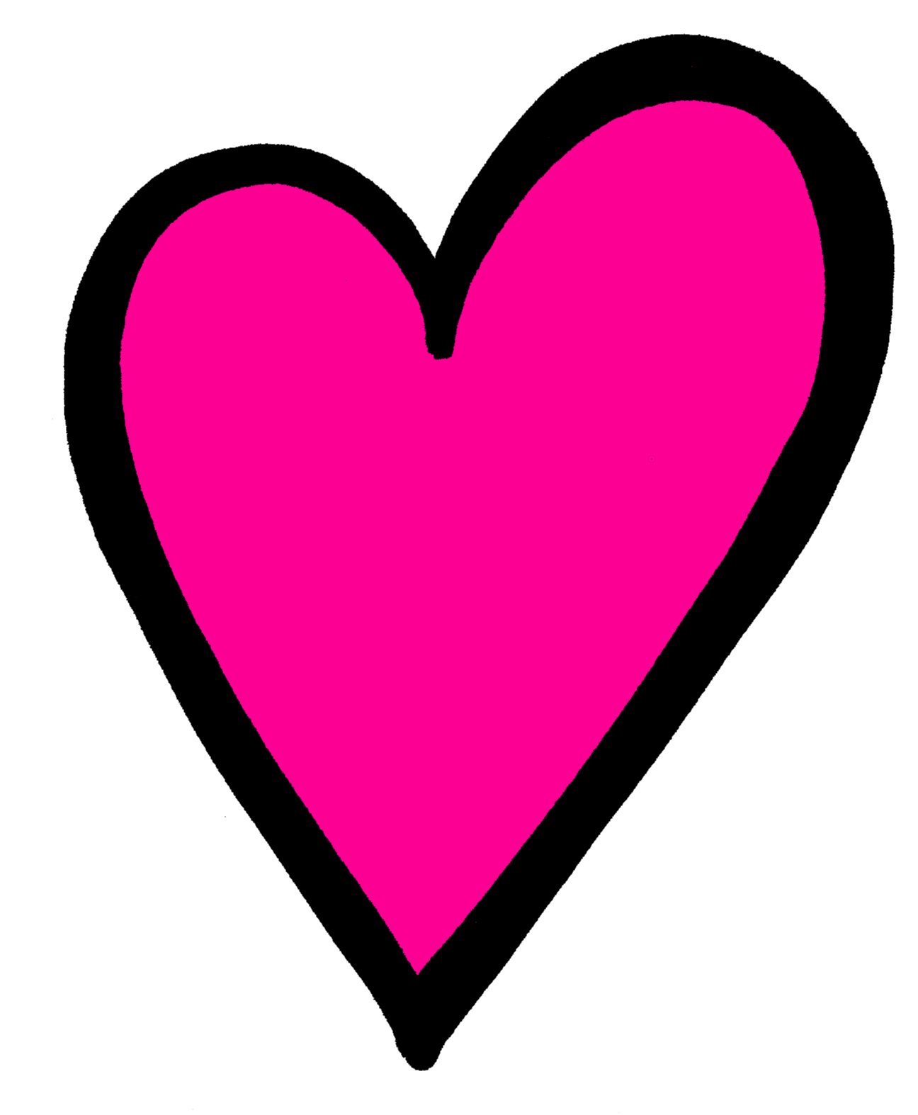 Pink Heart Png And placed them on heartsPink Heart Outline Png