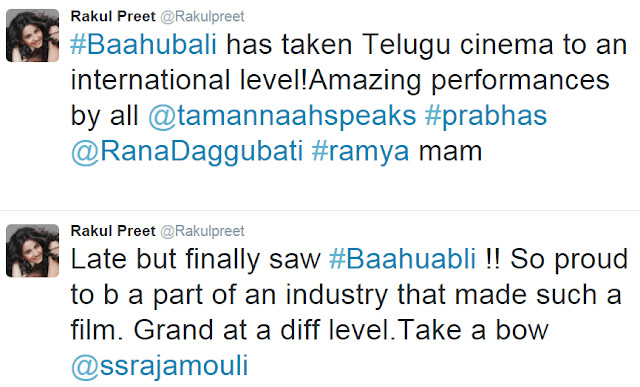 Rakul Preet Comments on Baahubali and SS Rajamouli