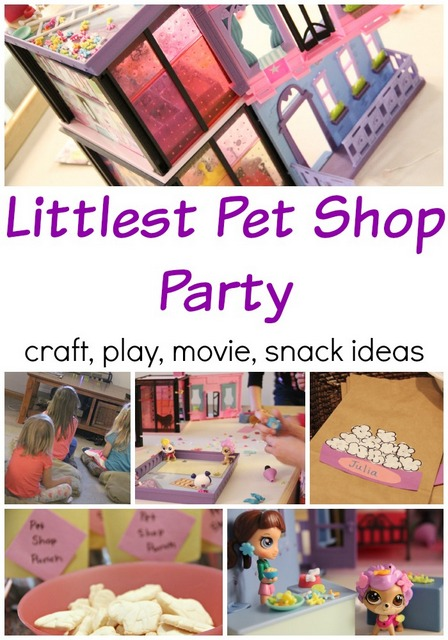 Littlest Pet Shop party ideas with snacks, craft, play, and more. This would be a great play date idea too, or just for fun!