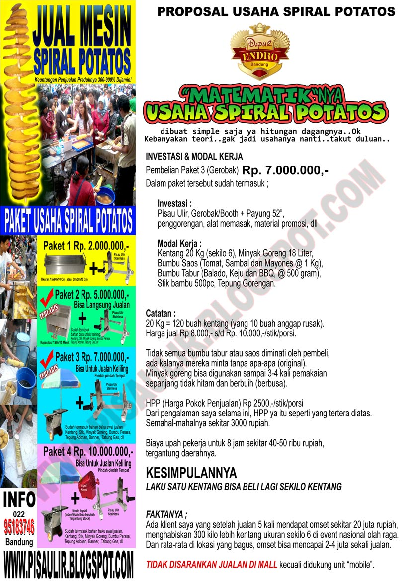 PROPOSAL USAHA SPIRAL POTATOS