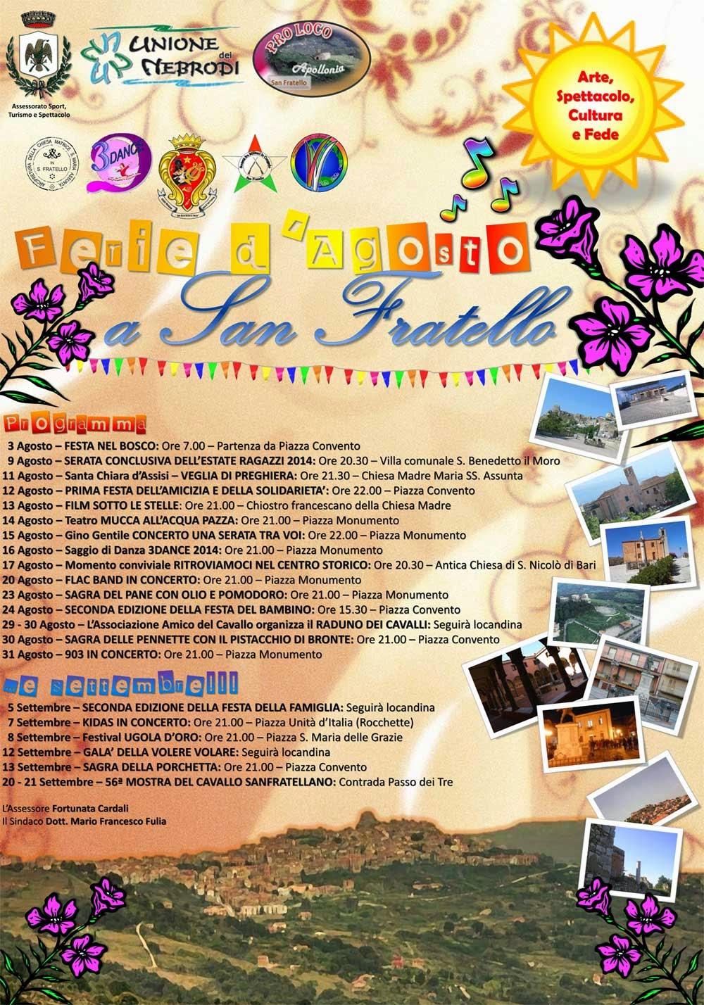 Programma Eventi Estate 2014