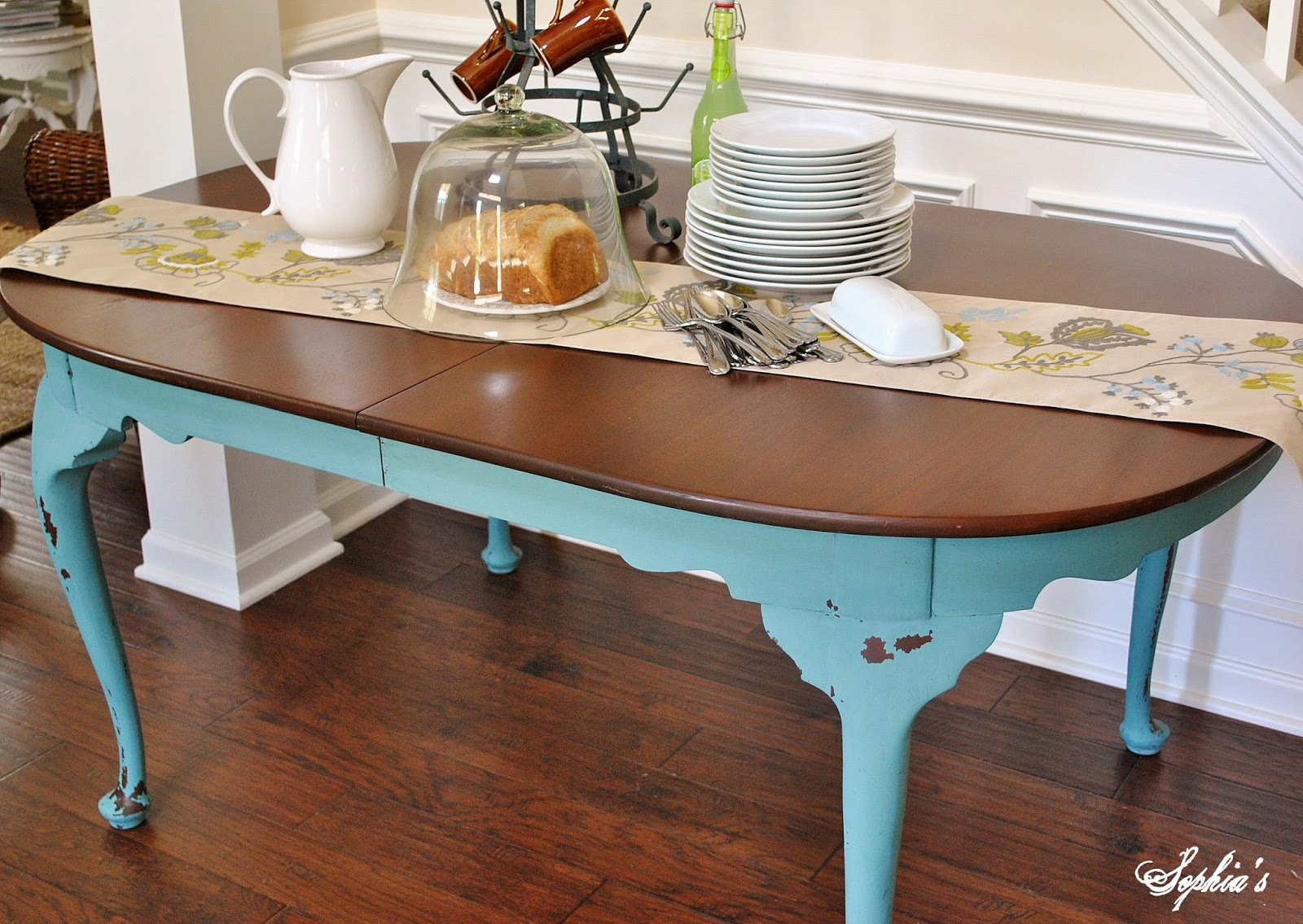 Painting Dining Room Furniture Painted Dining Room Table Kitchenscalediningtablemainjpg Painted