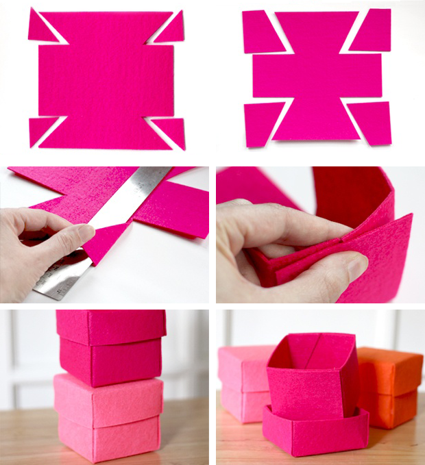 Easy to make felt boxes