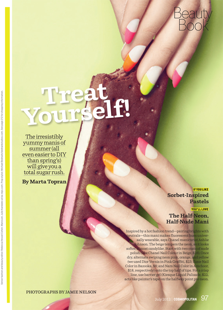 Junk Food Editorial- Manicure, Nail Designs, Nail Art, Ice Cream ...