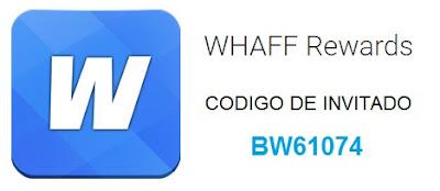 Codigo de invitación de Whaff Rewards