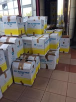 Jefatura superior Policía Canarias denuncian cajas apiladas