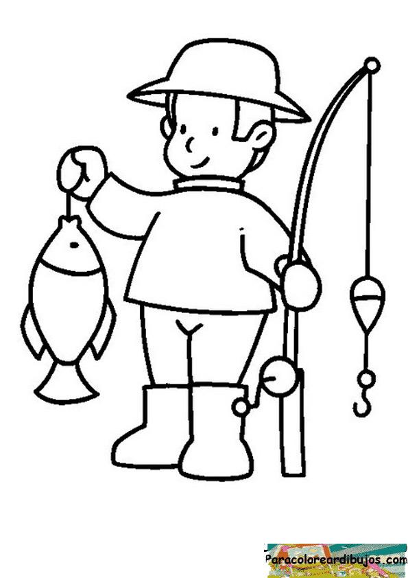 Fantástico Pesca Para Colorear Colección - Dibujos Para Colorear En ...