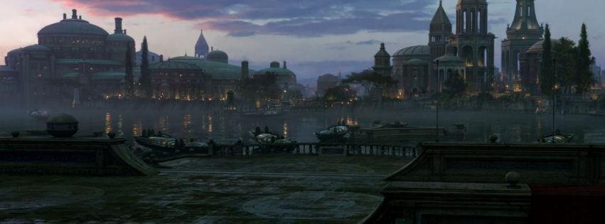 Sisli nehir ve kasaba manzarası kapak resimleri