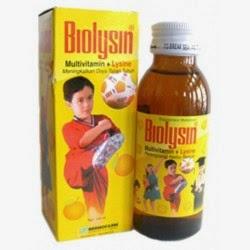 Biolysin Sirup Multivitamin + Lysine Perangsang Nafsu Makan Anak