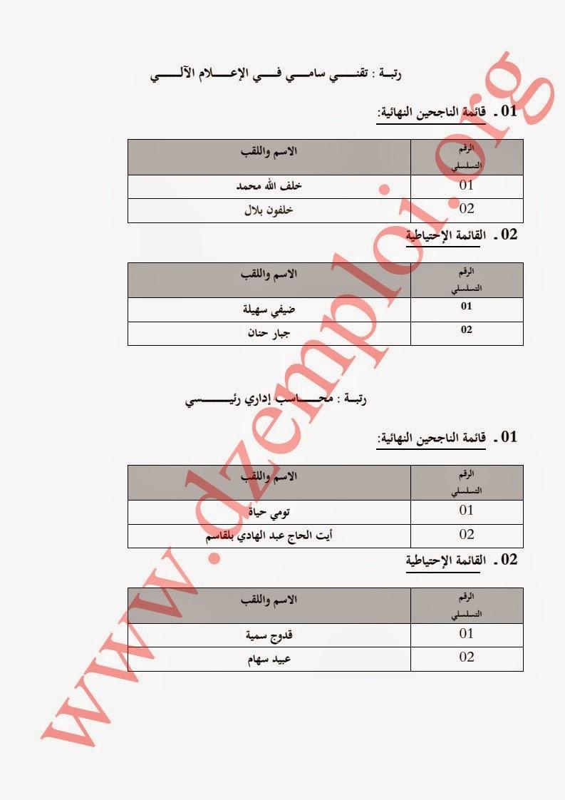 إعلان نتائج مسابقة توظيف بوزارة التجارة لسنة 2014 4.jpg