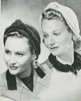 1940's Knitting - Two Turbans free knitting pattern