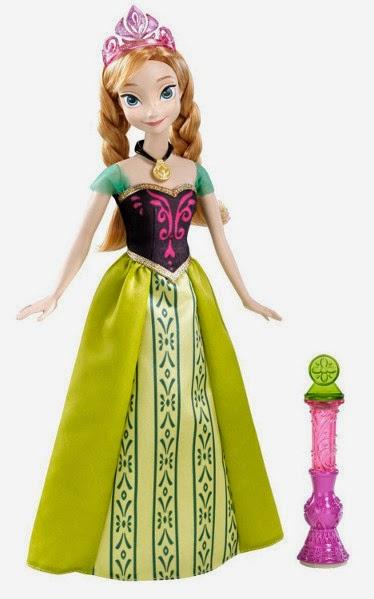 TOYS - PRINCESAS DISNEY - Muñeca Anna : Frozen Color Change  Juguete oficial | Mattel Y9963 | A partir de 3 años