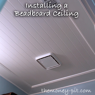 installing a beadboard ceiling