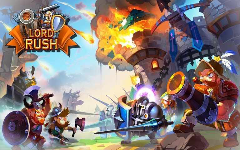 Lord Rush: Medieval Castle War Gamepla