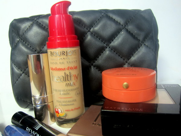 Bourjois new Healthy Mix Foundation, Rimmel Match Perfection Concealer, Collection Lasting Perfection Concealer, Maybelline Fit Me powder 