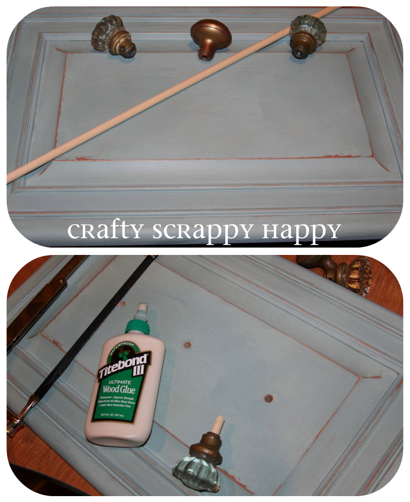 Crafty scrappy happy coat hanger display from cabinet doors Vintage garage doors for sale