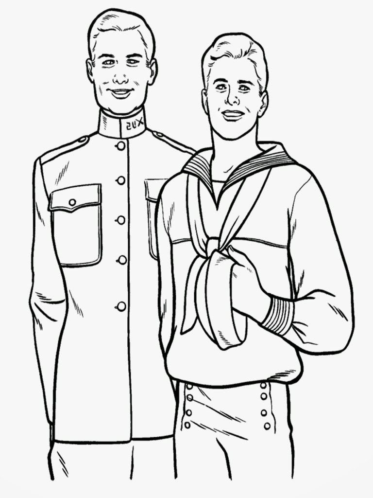 Sailor Coloring Pages Realistic