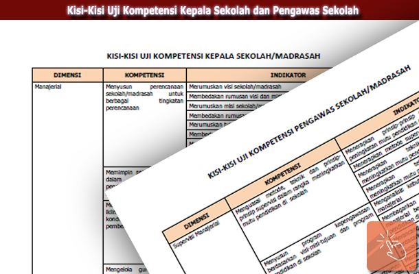 Kisi-Kisi Uji Kompetensi Kepala Sekolah dan Pengawas Sekolah / Madrasah