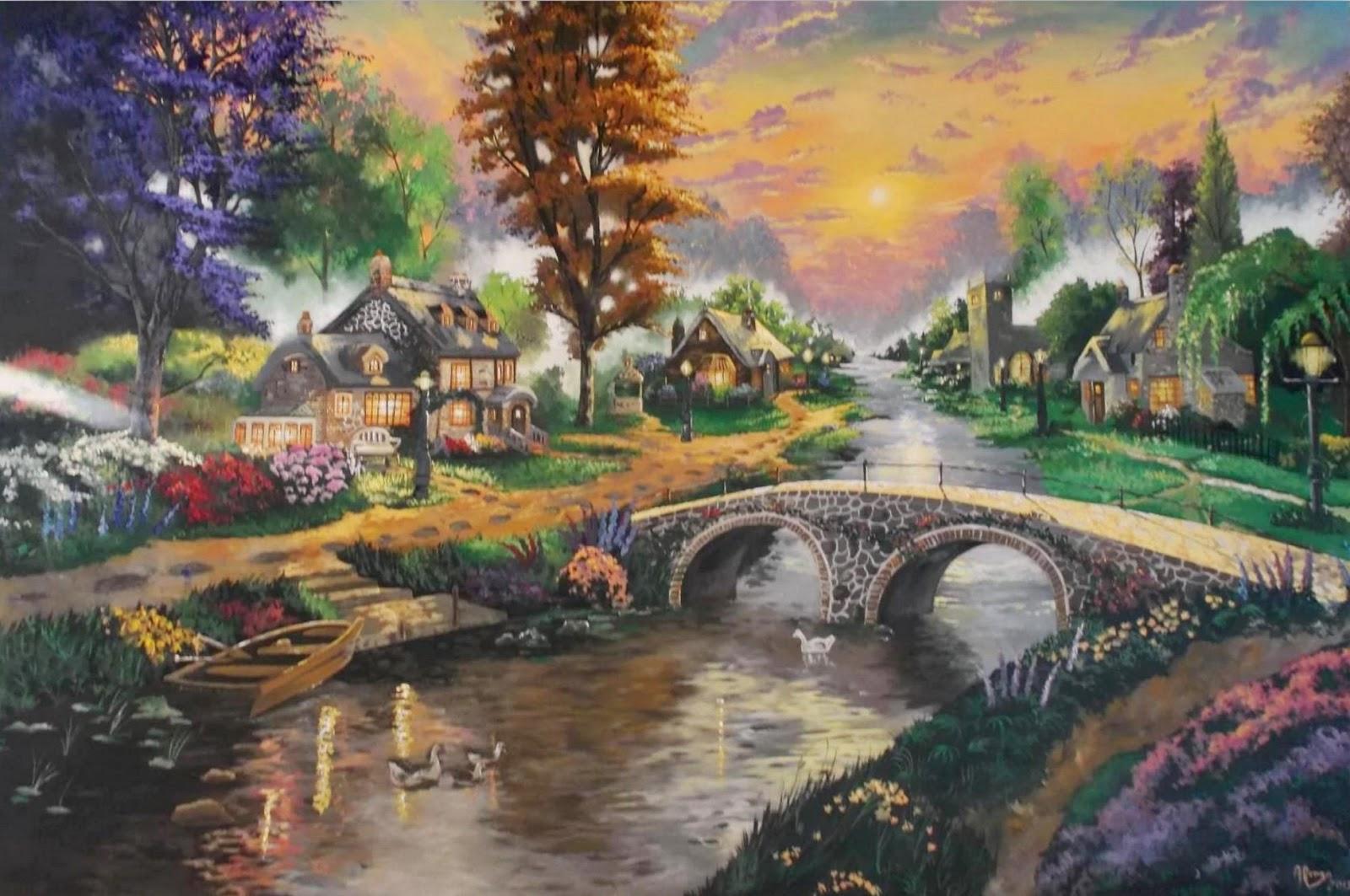 Im genes arte pinturas pueblo y paisajes naturales de - Los cuadros mas bonitos ...