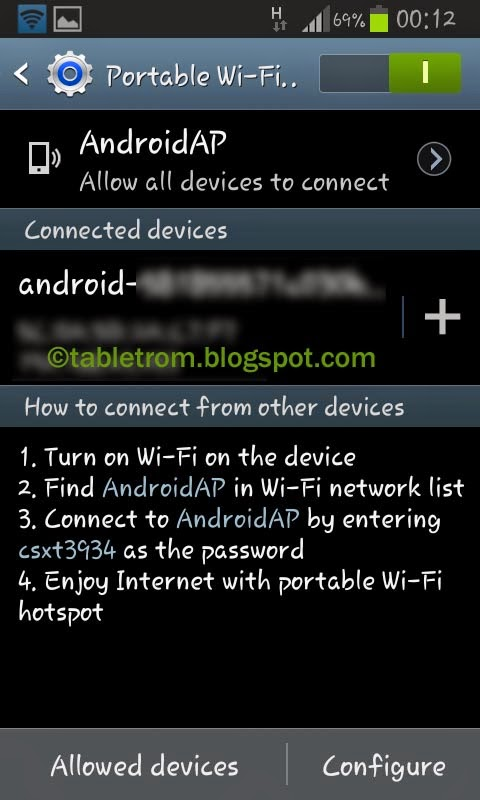tutorial how to Share your device's mobile data connection via USB,Wi-Fi or Bluetooth .