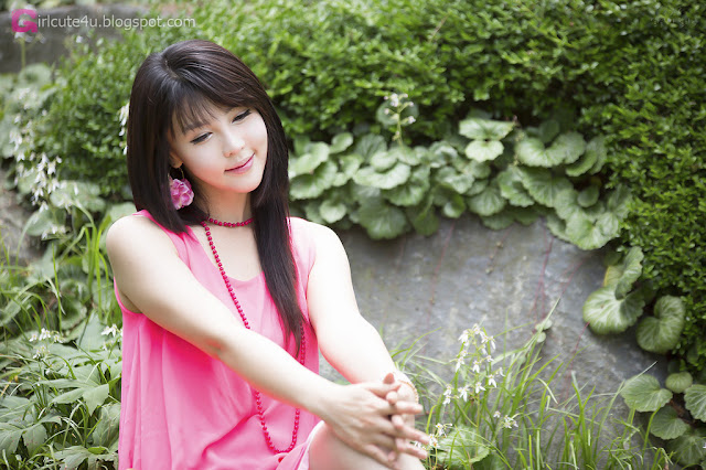 1 Lee Ji Woo in Pink - very cute asian girl - girlcute4u.blogspot.com