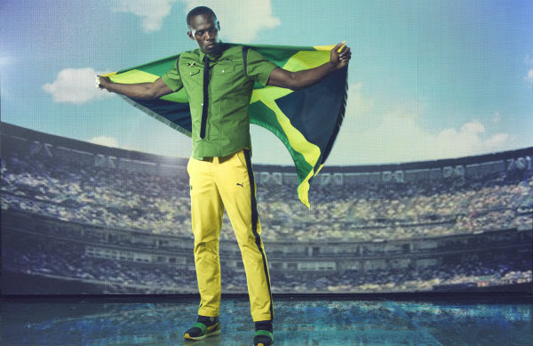 Jamaican olympic uniform by Puma